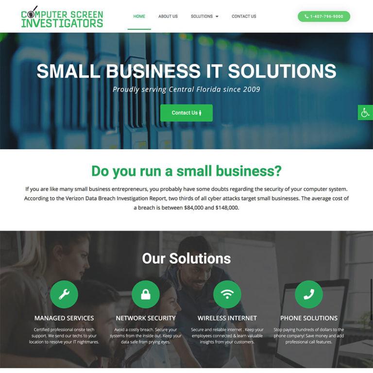 Computer Green Investigators Website