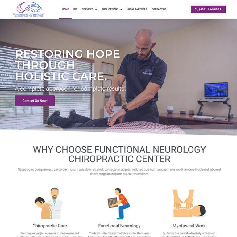 Functional Neurology Chiropractic Center Website